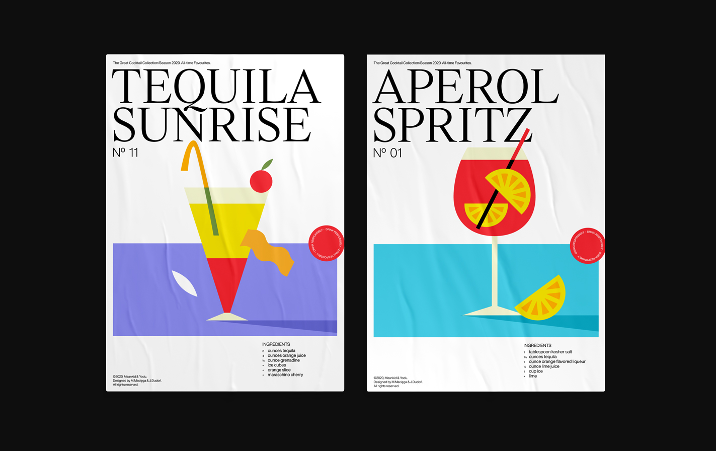 Cocktail posters collection