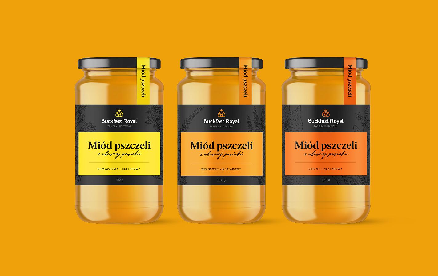 Buckfast Royal - Honey jar labels